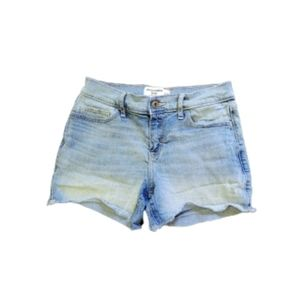 Girls Abercrombie Light Wash Midi Jean Shorts